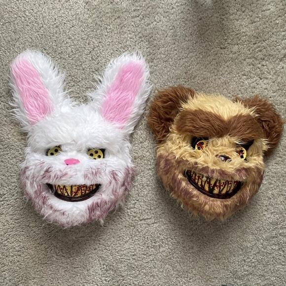 Halloween Bloody Bunny and Bear Masks